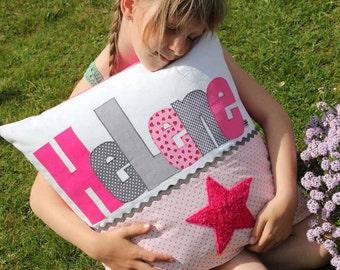 Taufkissen baby pillow name pillow