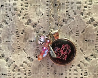 Breast Cancer Awareness Charm Pendant Necklace