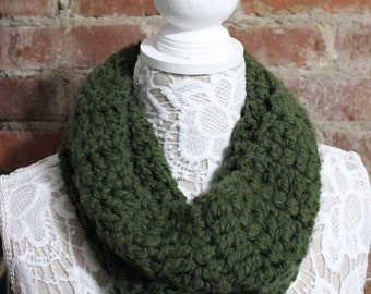 Cowl Neck Scarf - Hunter Green