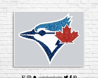 Toronto Blue Jays Art Print, Blue Jays Wall Art, Toronto Art, Baseball Art Print, Isometric Art