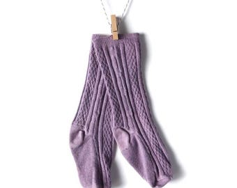 Purple Knee-High Stockings/Socks for Baby/Toddler