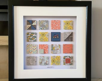 Urban Cycle 3D Wall Art Picture, Cycle Picture, Gift for Cyclist, Picture for Cycling Enthusiasts