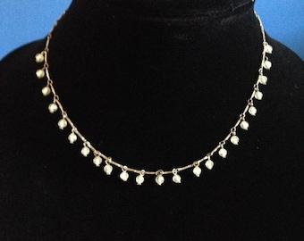 Silvertone Delicate Necklace