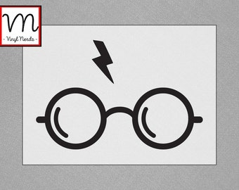 Harry Potter Rounded Glasses - Permanent Vinyl Decal/Sticker