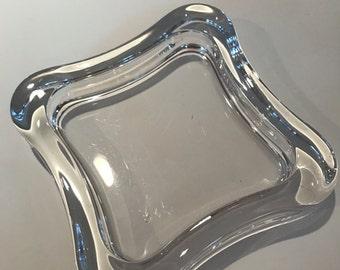 Vintage, RETRO Clear Glass Ashtray - BEAUTIFUL!!