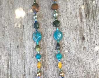 Turquoise assorted glass beads