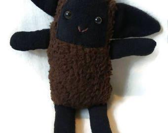Happy Sheep Plushie - Softsheep, stuffed animal, soft toy, gift , Plushie, black sheep, sheep, lamb .