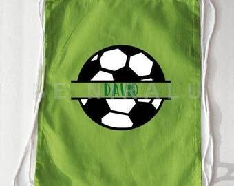 Soccer Drawstring Bag | Soccer Bag | Personalized Soccer bag |  Soccer Backpack | Soccer Coach gift Ideas | Soccer Gifts |  Soccer Camp Bag