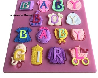 silicone mould baby boy / baby girl