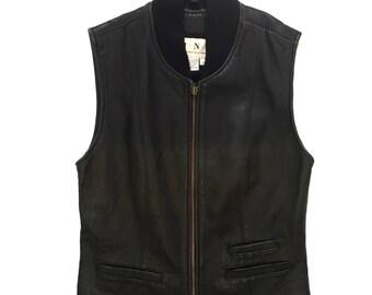 Moto style 90's zip vest