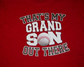 Baseball Tee- That's My Grandson Out There