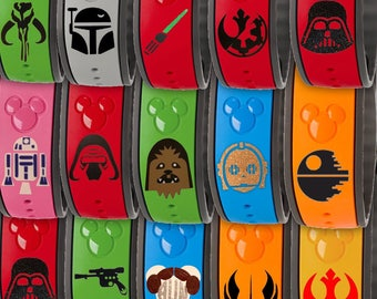 Star Wars Disney Magic Band Decal (14 Options) 2.0 or Original MagicBand Skins Stickers Accessories R2D2 Darth Vadar Kylo Ren Princess Leia