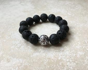 Chunky Lava Essential Oil  Diffuser Bracelet
