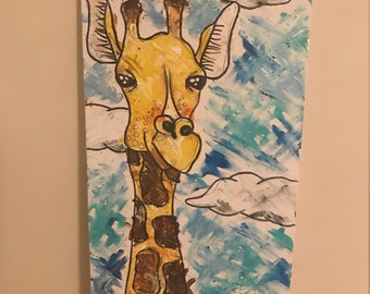 Giraffe Finger Painting - customizable