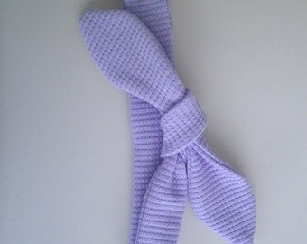 Pixie Winks - Violet Waffle Top Knot Hair Tie