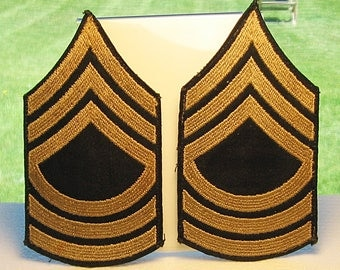 WWII Pair Master Sergeant Chevrons