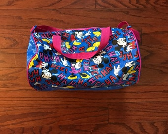 Vintage 90's Mickey Mouse kids duffell bag