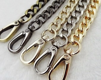 12mm Gold silver GUN METAL Chain Strap purse strap handles bag hadnbag Purse Replacement Chains Purse  Finished Chain straps High Quality