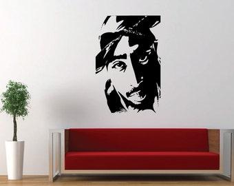 Tupac, 2Pac, Makaveli, Hip Hop Music, Decal, Vinyl, Home Decor, Sticker, Wall Art, Wall Decal, Bedroom, Living Room