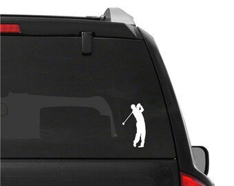 Golf Player Vinyl Decal Golfer Car Window Golfcart Laptop Sticker
