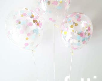 Confetti Balloons  - Unicorn ... 3 Different sizes to choose from 30cm , 43cm and Jumbo 90cm