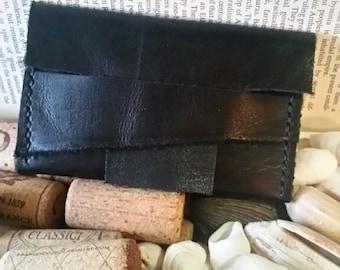 Black Genuine Leather Card Holder/Wallet