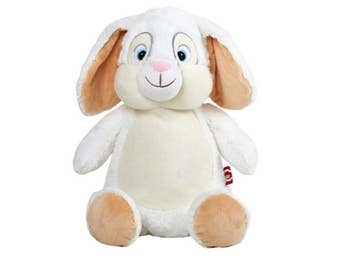 Personalised cubby buddy - White Bunny