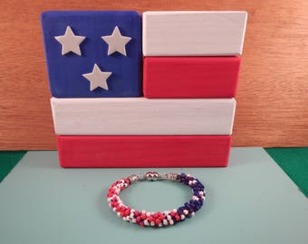 American Flag Bracelet (Matte Finsih)