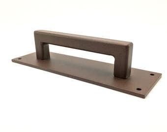 Heavy Duty Steel Door Handle - Powdercoated