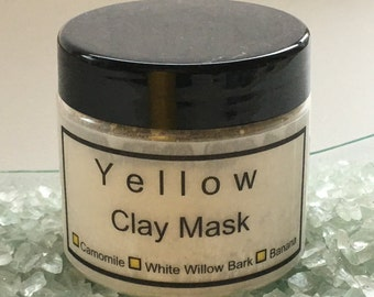 Yellow French Clay Face Mask for all skin types