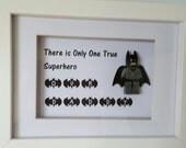 Fathers Day Lego Batman frame dad/fathers day/birthday gift
