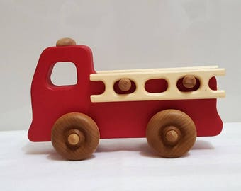 Handmade Children's Toy Fire Truck (Small)
