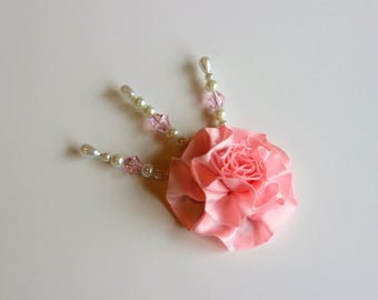 Pink and white Decorative Stick Pin Sets For Scrapbooking, Mini Albums, & Card Making