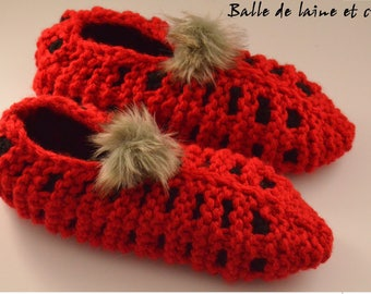 Women's Knitted Slippers size 9-10
