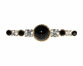 Brooch VINTAGE SPHINX - Baguette bar black & white
