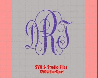Monogram SVG - Monogram Letters SVG - SVG File - Studio File