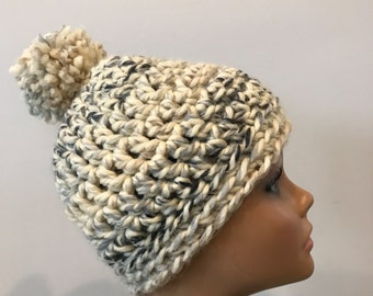 Chunky crochet beanie\hat