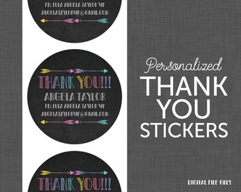 Stickers - Lularoe Thank You - Lularoe Black - Personalized