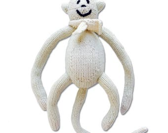 Cashmere Monkey for Babies + Little Ones-Handmade Baby Gift. Made at a Women's Center,Nepal-Proceeds support education for Nepali children.