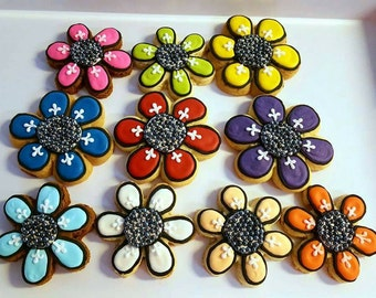 Fancy flower cookies