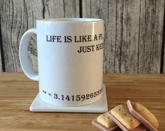 Life Quote Mug, Math Teacher Gift, Gift for Teacher, Math Gift, Funny Mug, Fun Mug, Cool Coffee Mug, Math Lovers Gift, Funny Quote Mug
