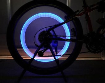 NEW!! 1 Pair LED Car / Bicycle Lights Valve's Caps | Light up your wheels! [Free Shipping]