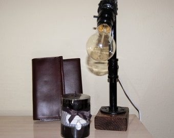 Rustic Steampunk Desk Lamp