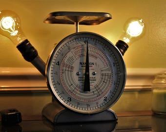 Retro Hanson 1509 Postage Scale Lamp - Edison Bulbs - Fully Functioning