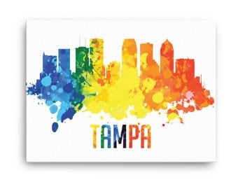 Tampa Skyline Canvas Print - Tampa Florida - Cityscape, Home Decor, Office Decor