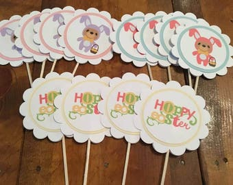 12 Easter Cupcake Toppers