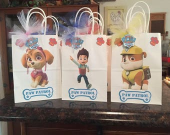 8 Disney Inspired Paw Patrol Party Favor Bags
