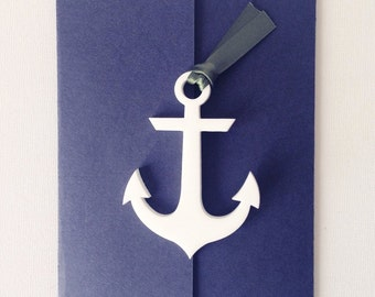 Nautical themed wedding invitations sailor themed stationery