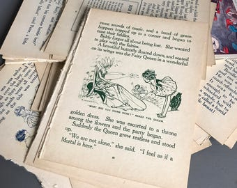 Ephemera Vintage Scrap-booking/Craft  Papers/ Pages/Images 1920's/30's. The Happy Xmas Annual. Over 40 pages.