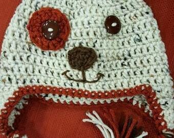 Puppy hat, handmade